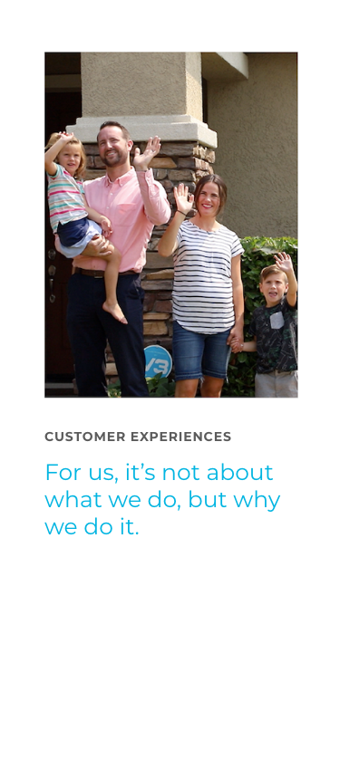 Customer Experience - For us, it's not about what we do, but why we do it.